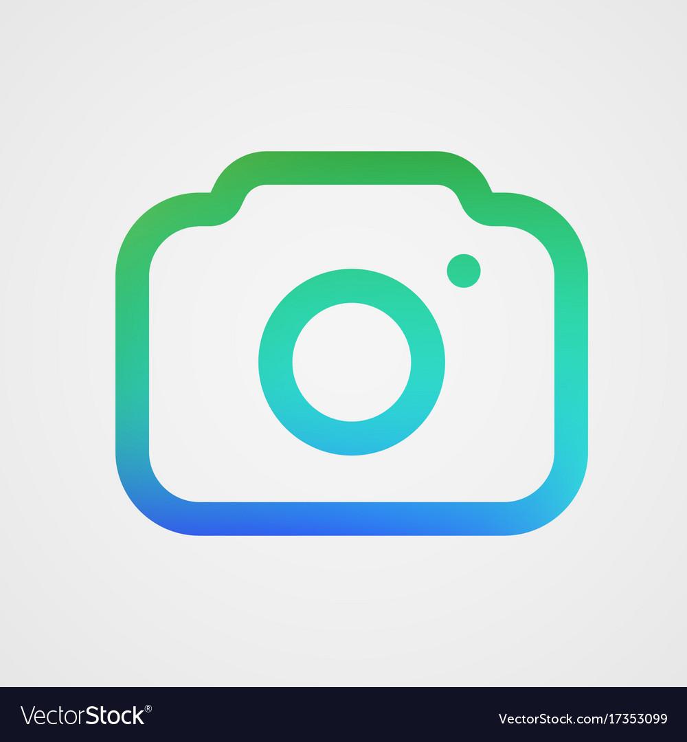 Modern photo camera icon isolated icon