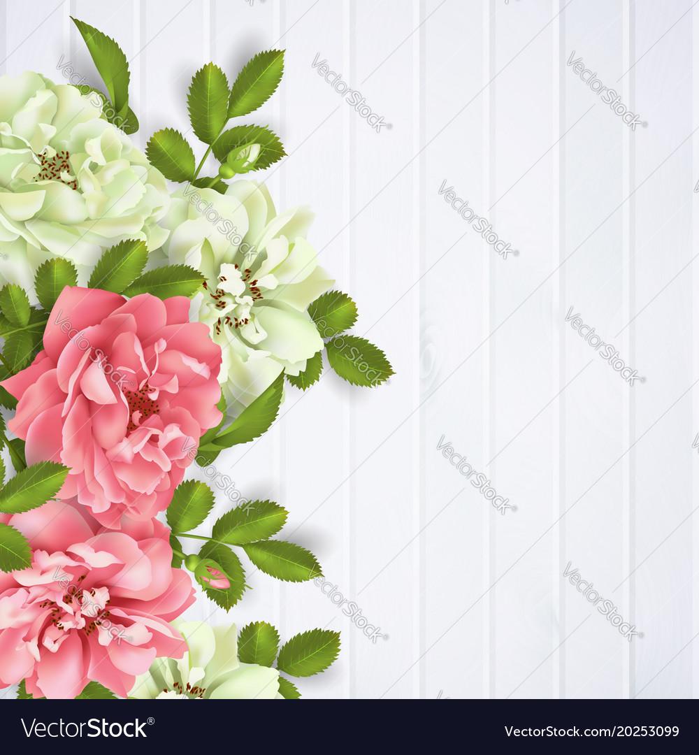 Realistic pink rose 3d roses