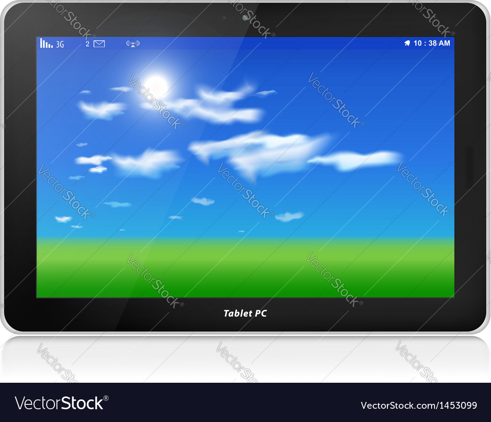 Tablet PC Horizontal Blue sky background