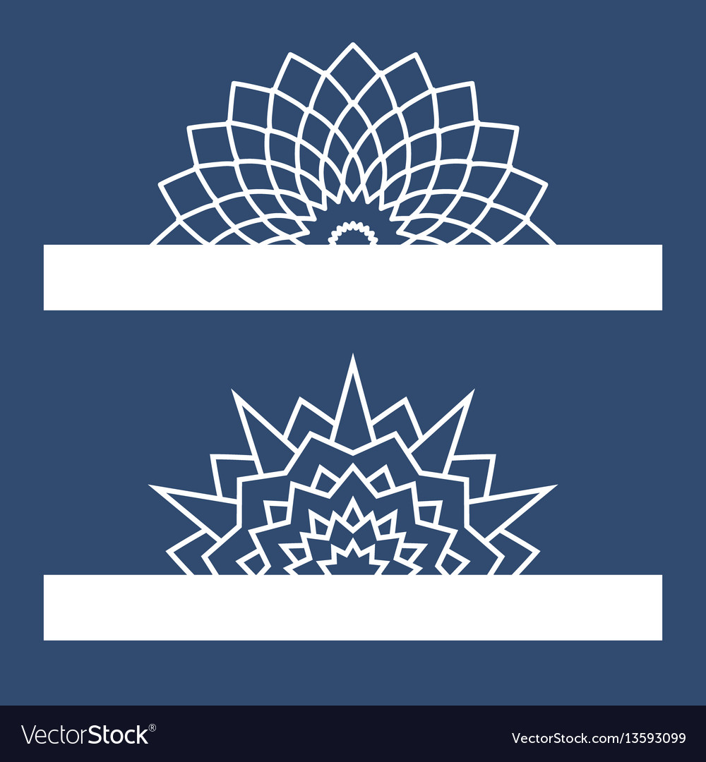 Template for laser cutting with mandala can be vector image