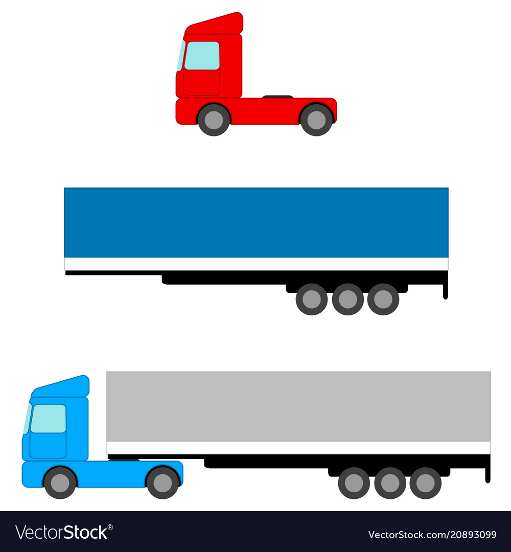 Truck flat image tow tractors and awning van