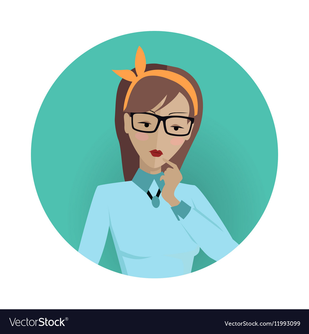Userpic of a Business Lady Woman at Work Icon