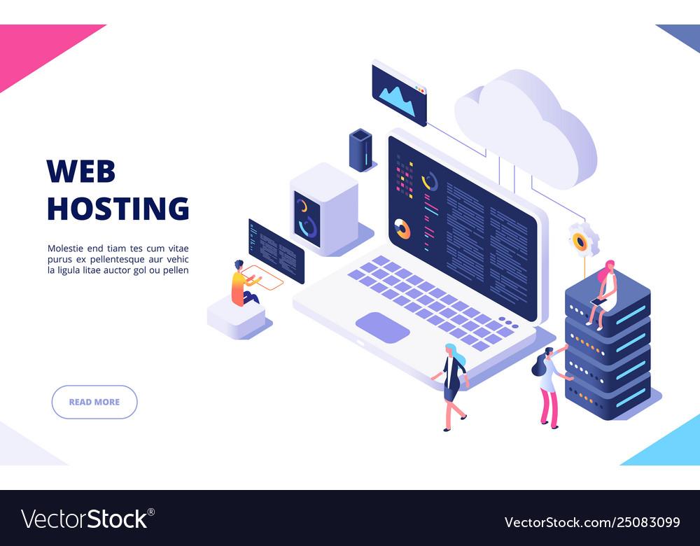 Web hosting concept cloud computing online