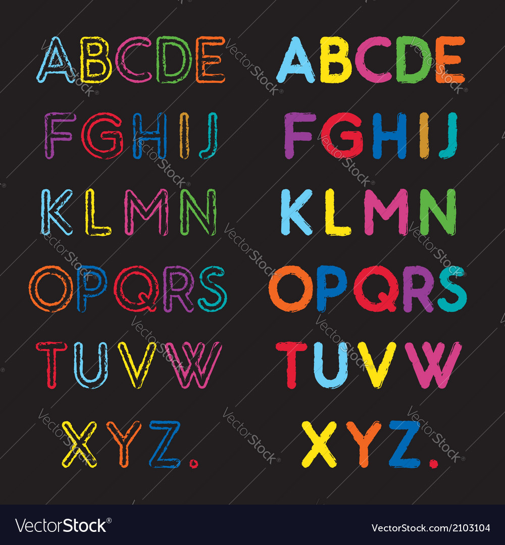 Capital Letters A To Z Vector Image