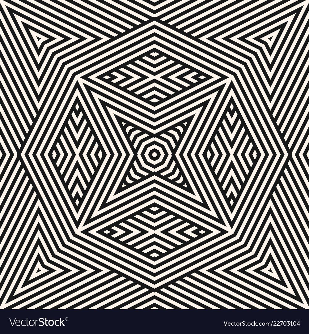Geometric lines pattern stylish black and white