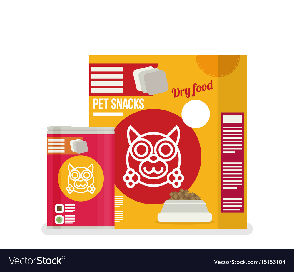 Icon of dog food set icon design for pet shop vector image