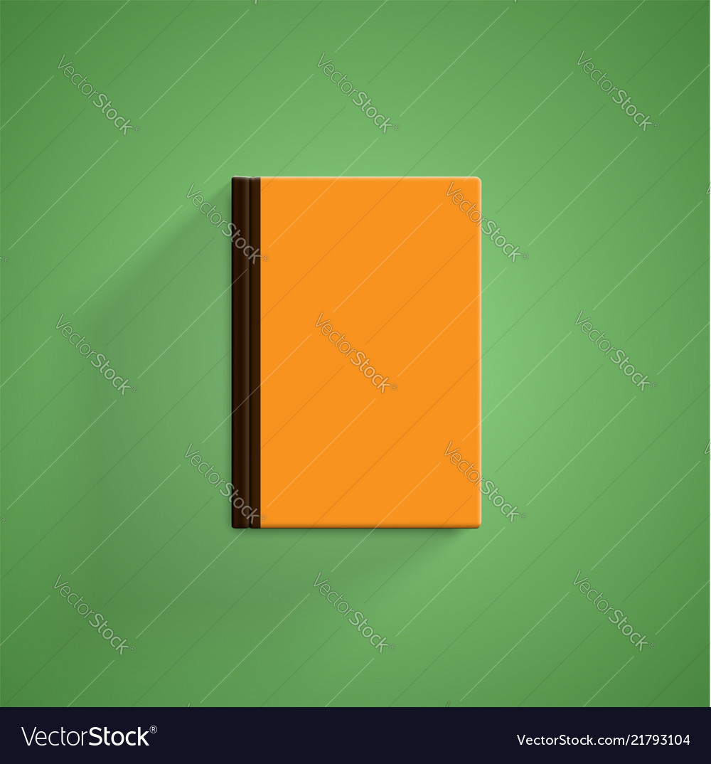 Realistic colorful book with green background and