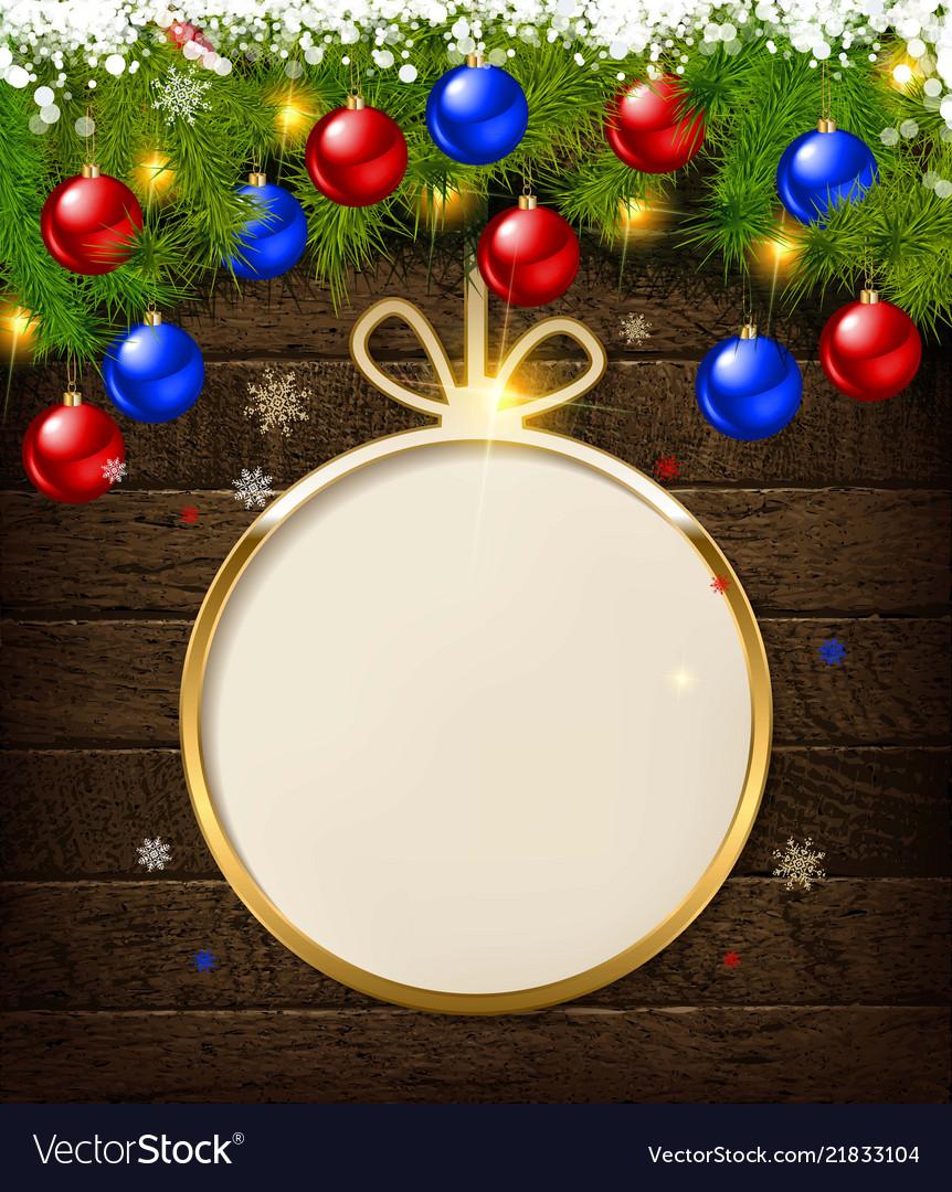 Round christmas design with decorative