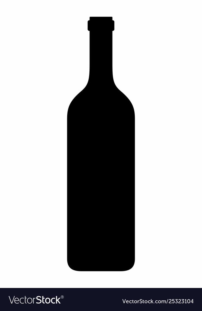 Wine bottle dark silhouette
