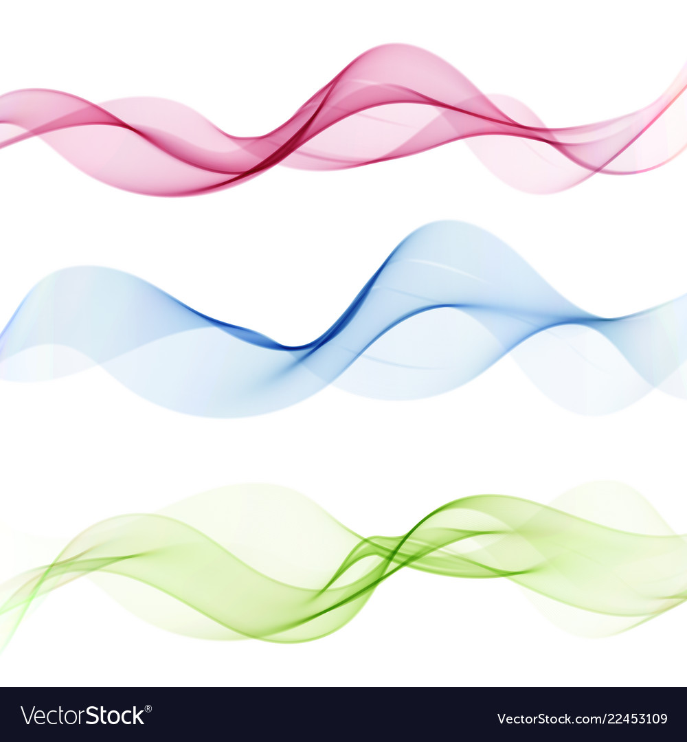 Abstract wave design elementtransparent colorful
