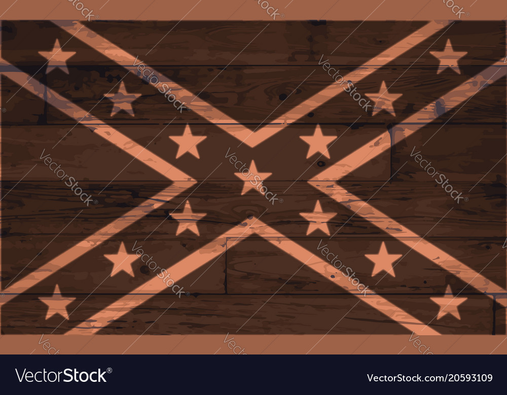 Confederate flag brand vector image