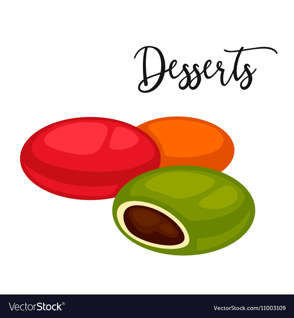 Delicious sweet dessert cartoon