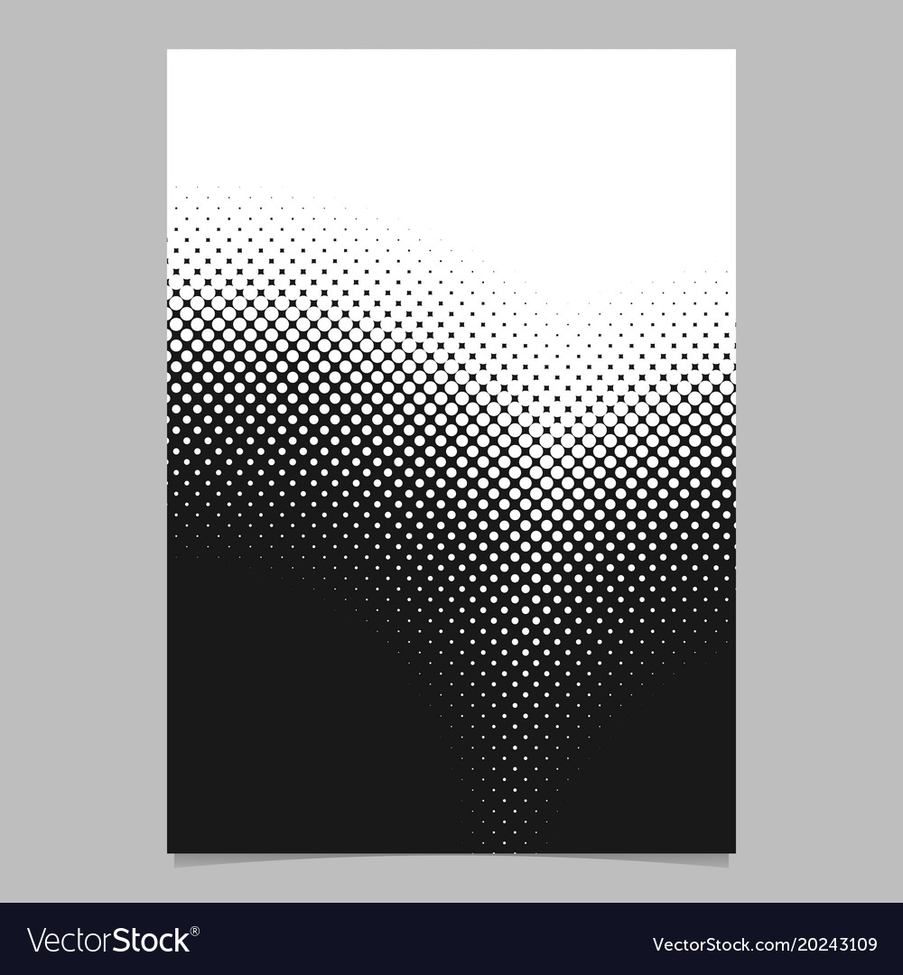 Retro abstract halftone circle pattern flyer