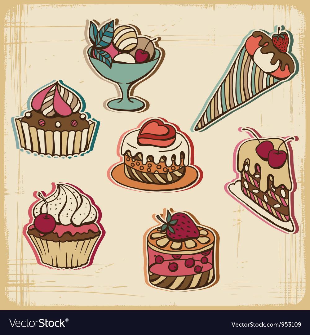 Retro Cakes Background