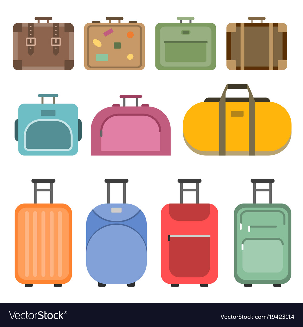 Different handle bags and travel suitcases