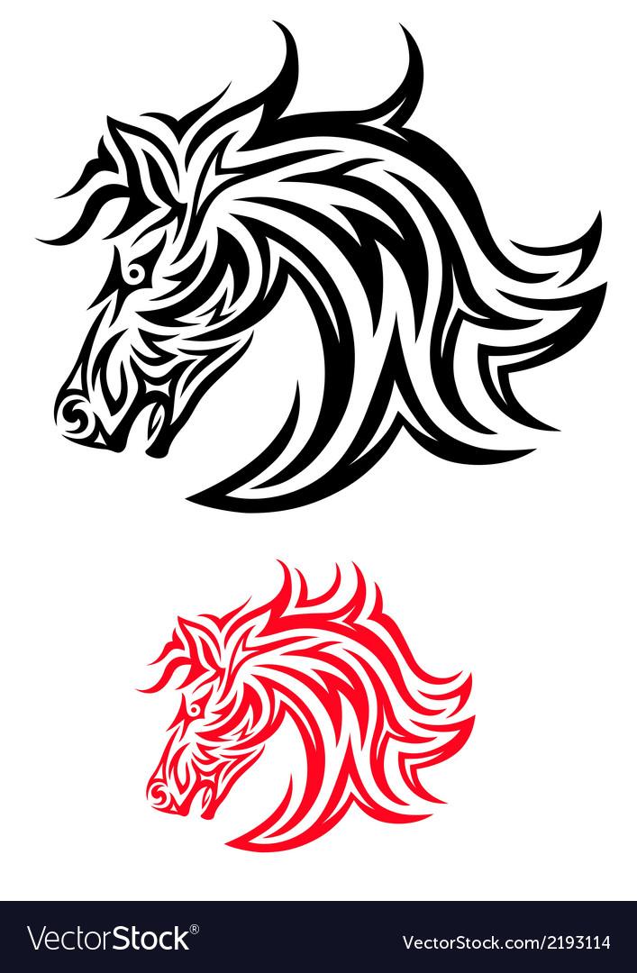 Face horse tribal