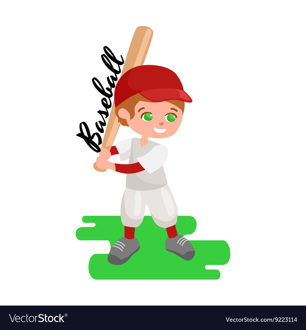 Happy boy playing baseball kids sport childrens