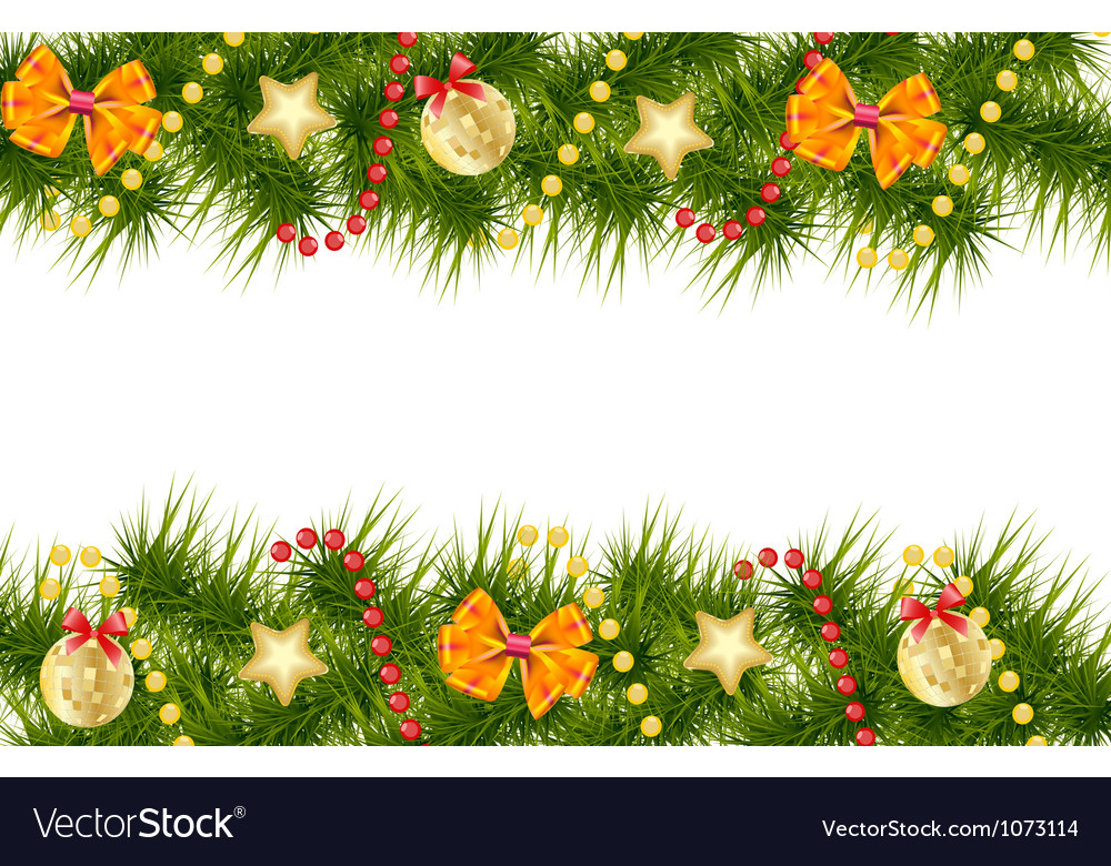 Merry Christmas Card Template Royalty Free Vector Image