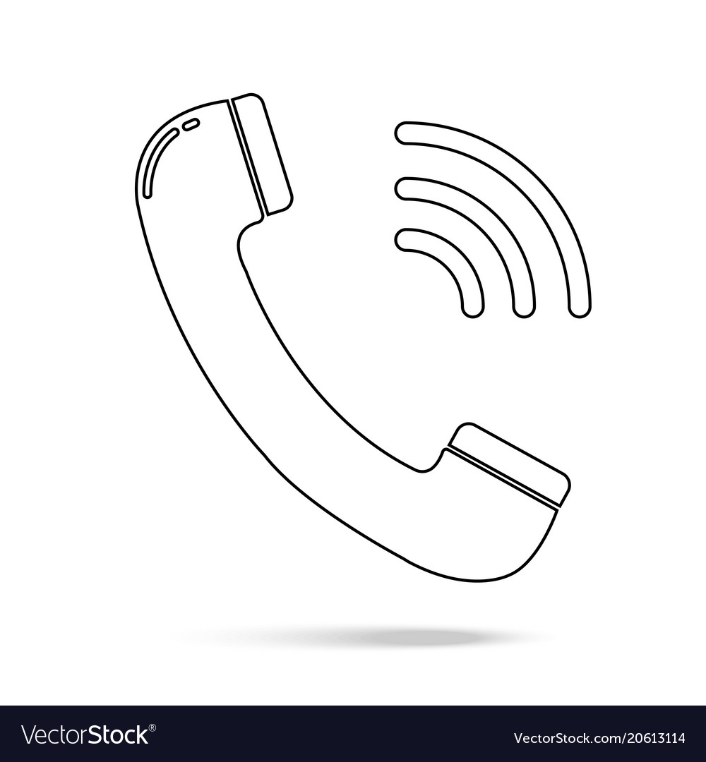 Outline phone icon in trendy flat style isolated
