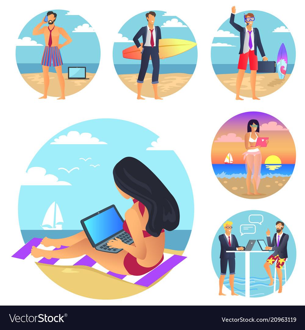 Business summer set poster