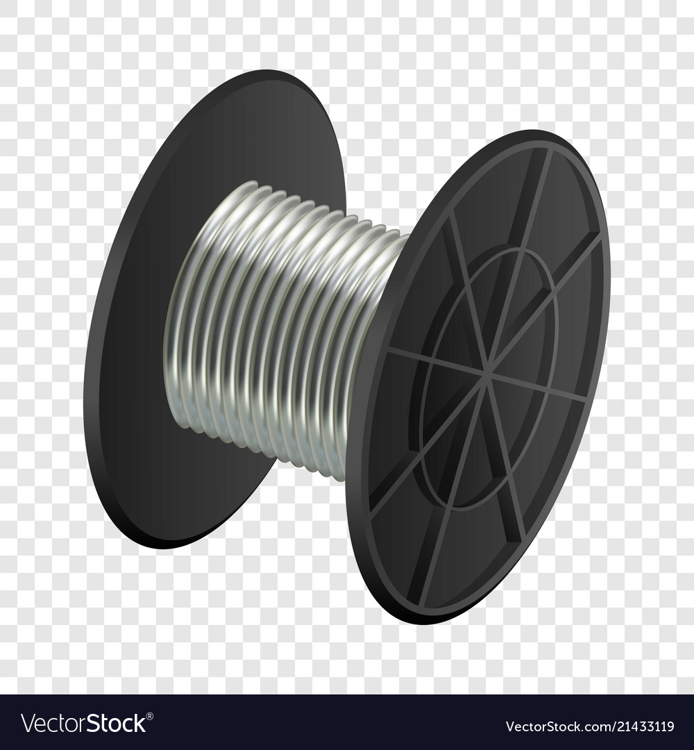 Cable coil mockup realistic style Royalty Free Vector Image
