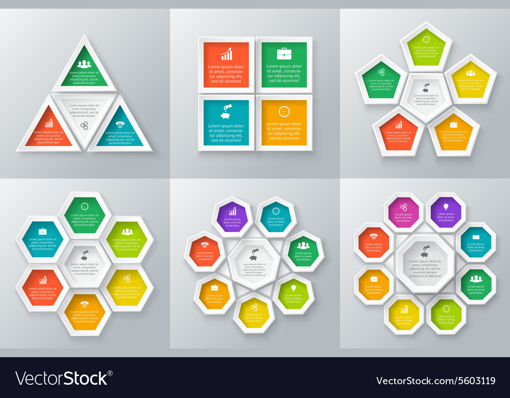 Circle elements set for infographic