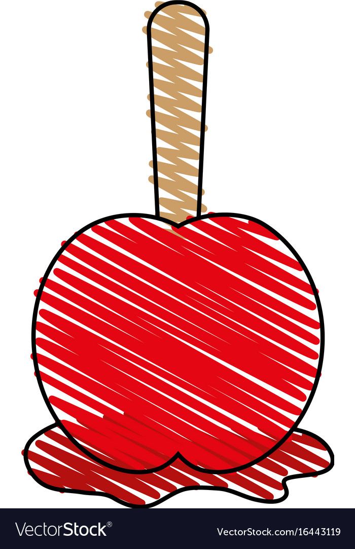 Delicious candy apple icon imag
