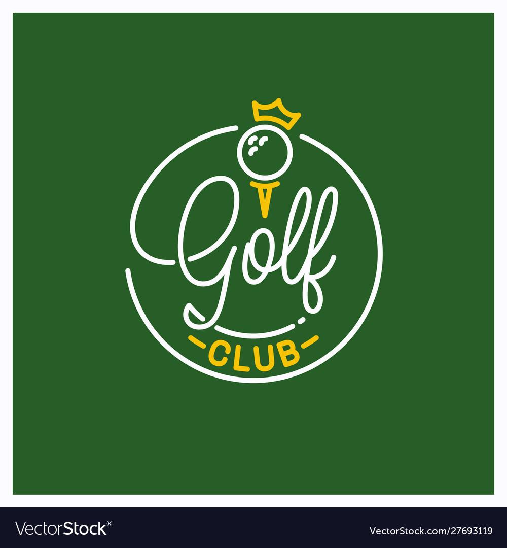 Golf club logo round linear logo ball