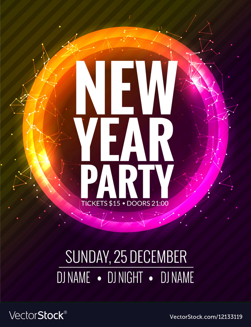 New year party and Christmas party poster template