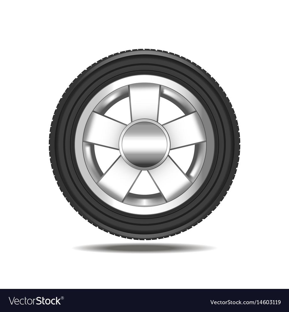 Realistic detailed auto car wheel