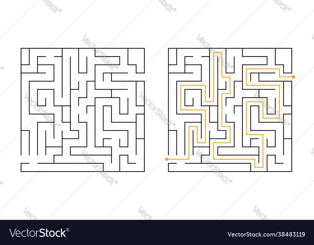 Square maze labyrinth game