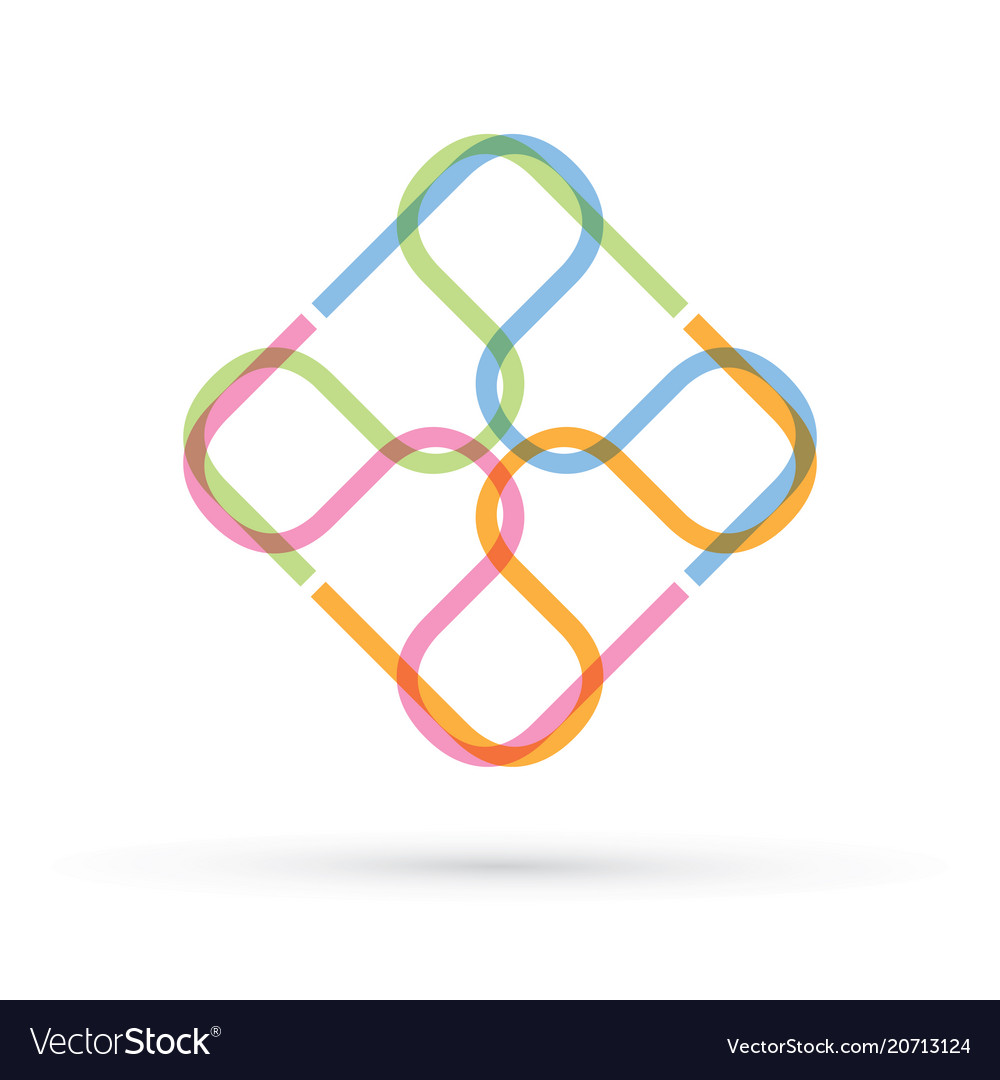 Abstract square modern shape graphic