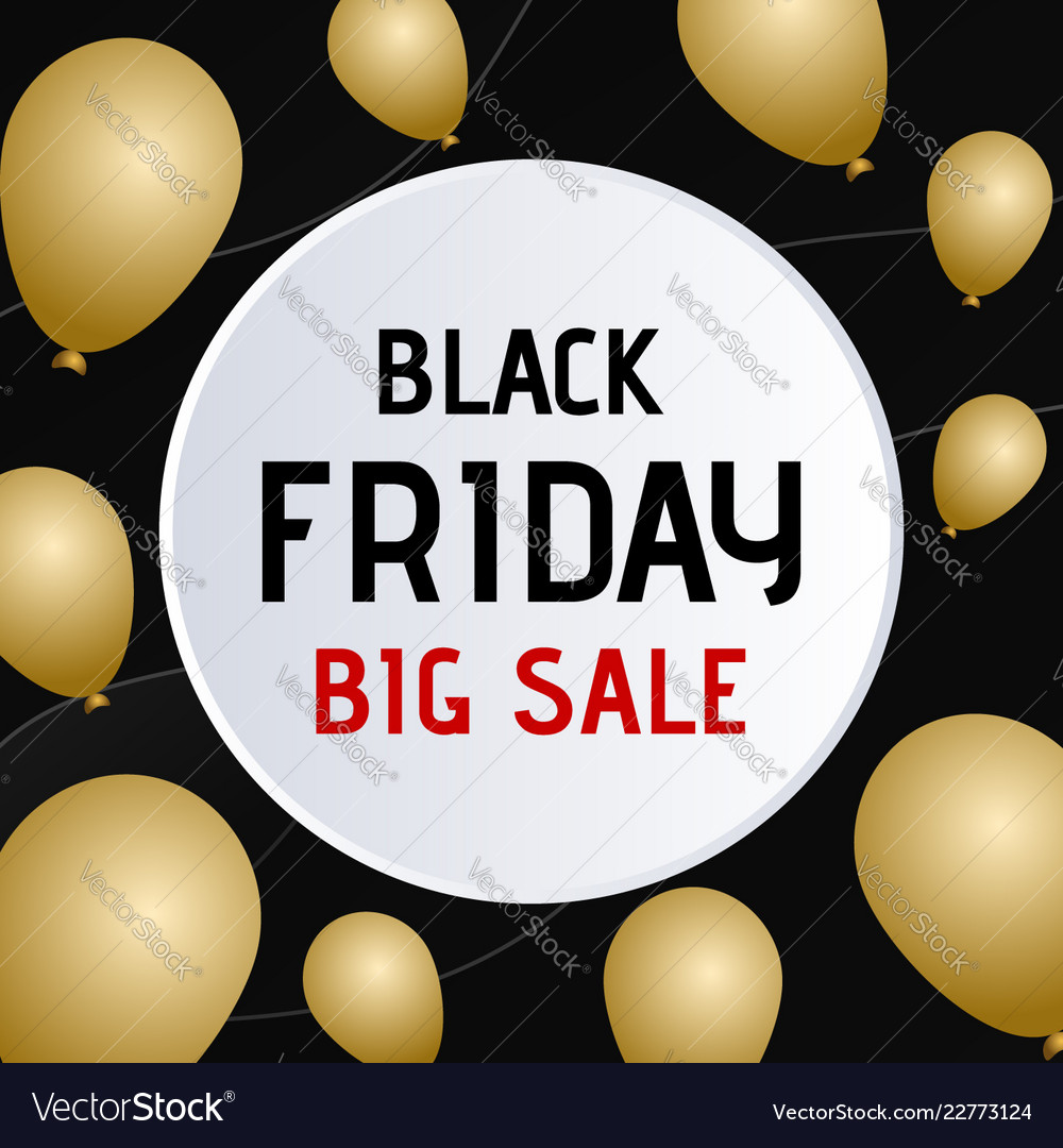 Black friday sale banner circle paper speech