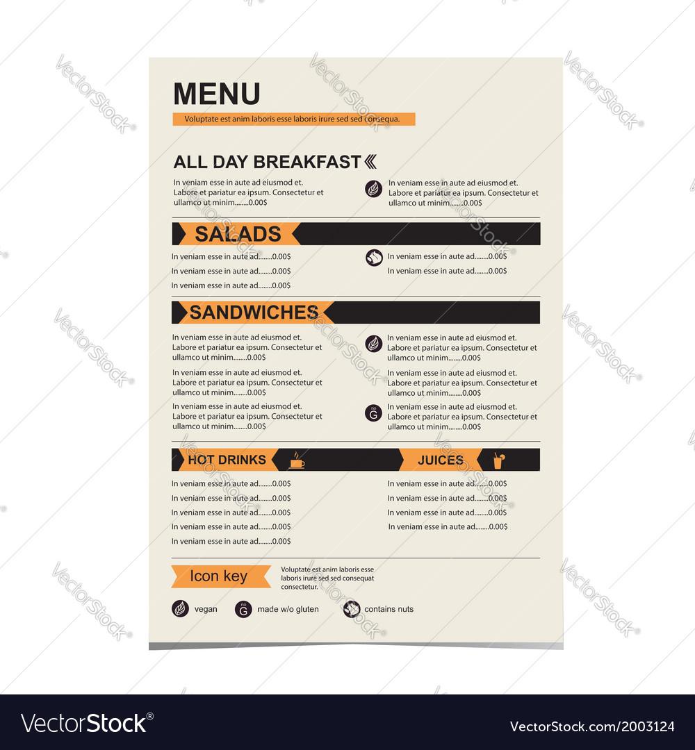 Cafe menu template design