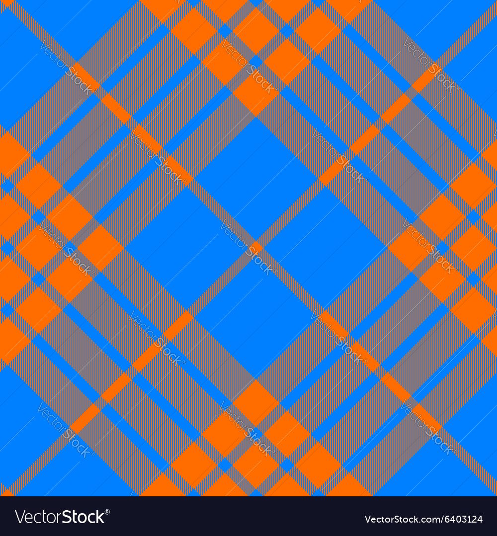 Clan tartan diagonal seamless pattern orange and