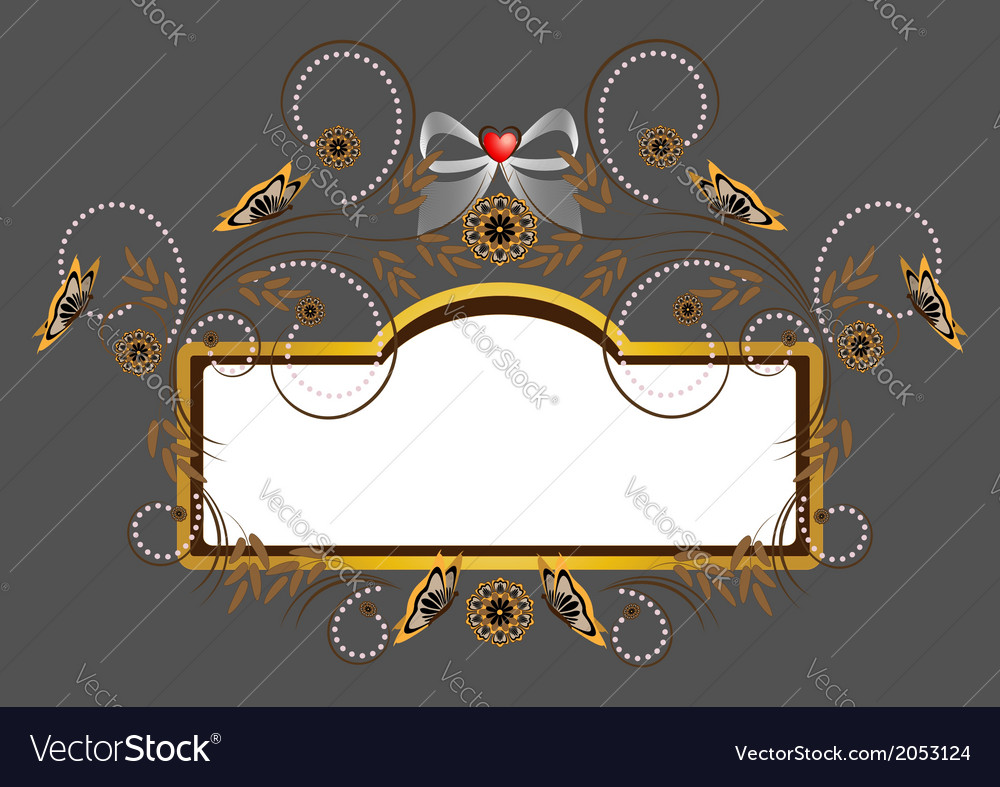 Elegant frame with heart