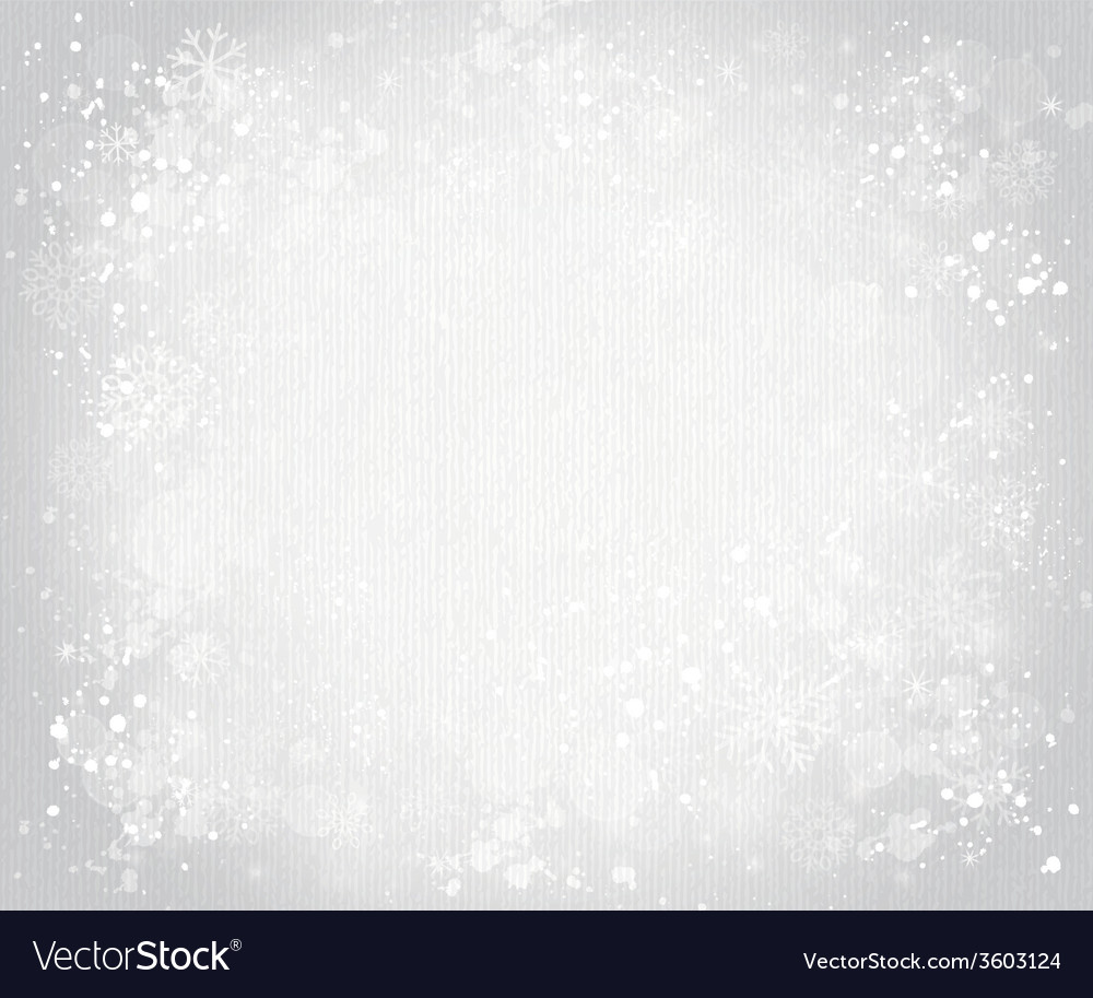 Gray canvas background with snowflakes