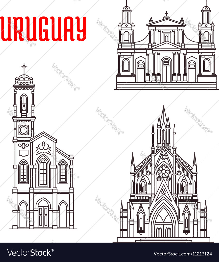 Historic famous architectural buildings of Uruguay
