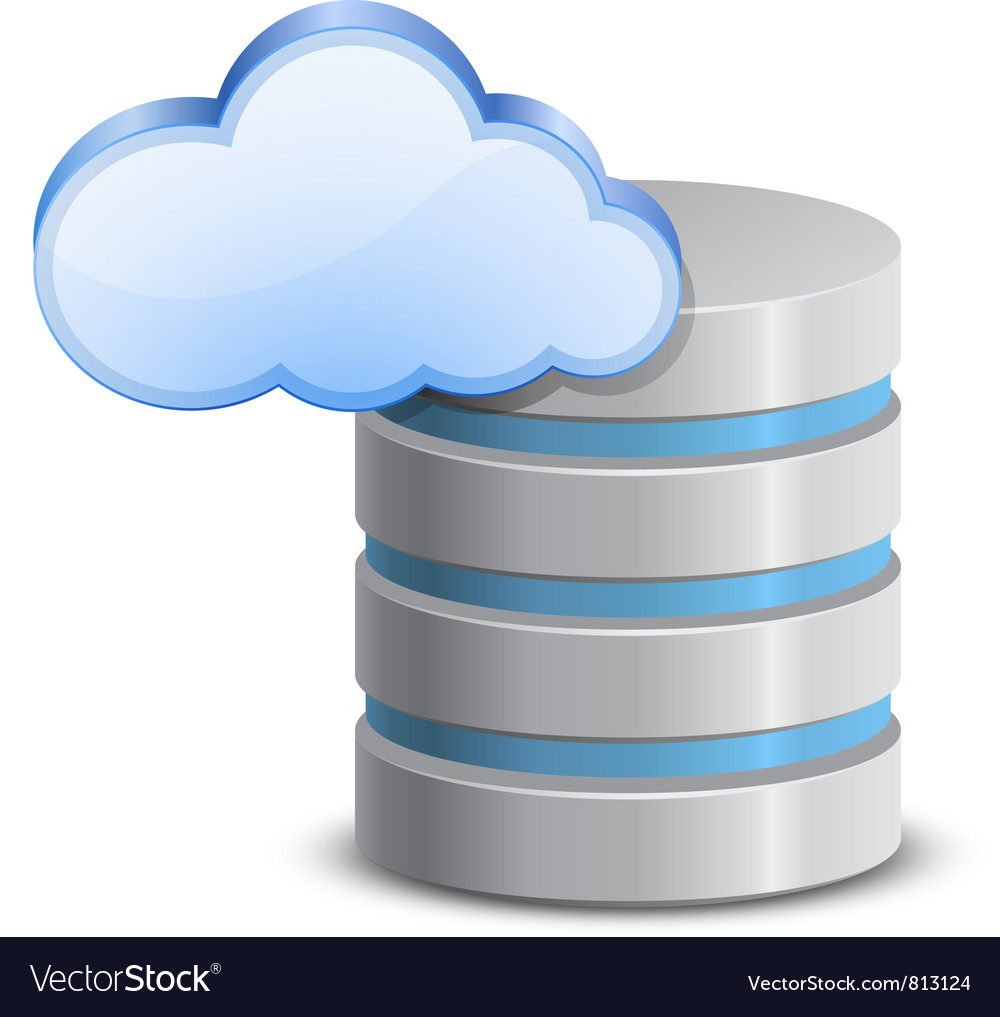 Online backup icon vector image