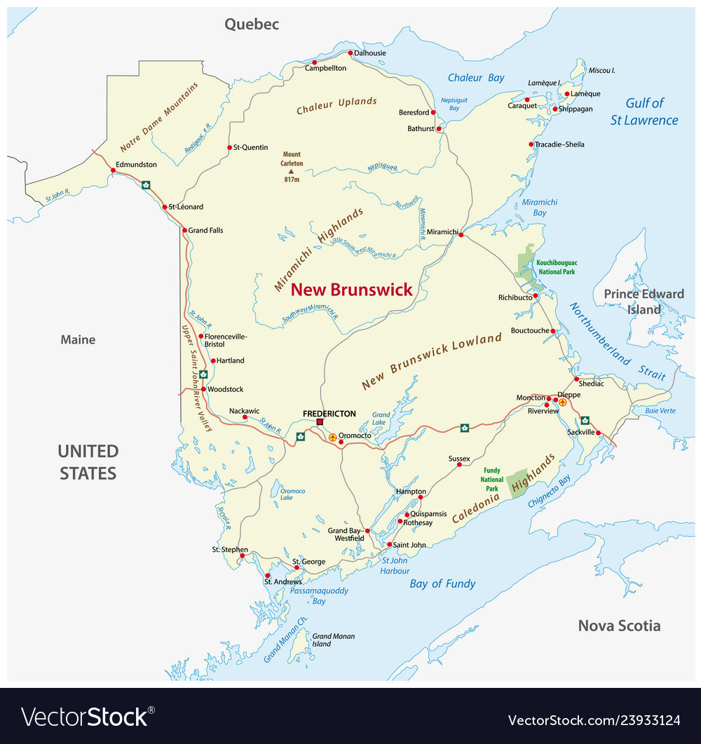 Road Map Of Canada.Road Map Of The Canada Atlantic Province New