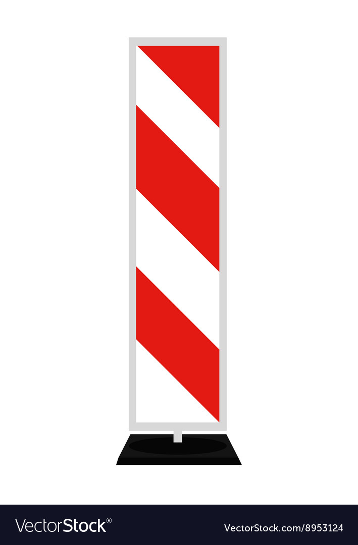 Road signs Red Badge guardrails