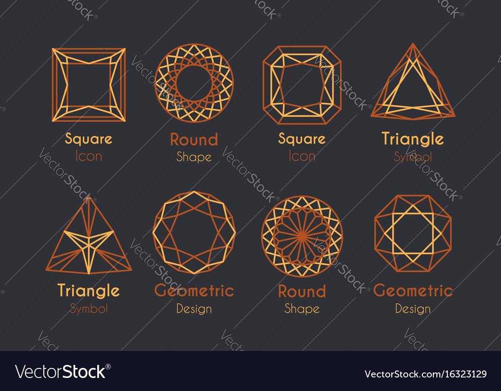Abstract logo or emblems set