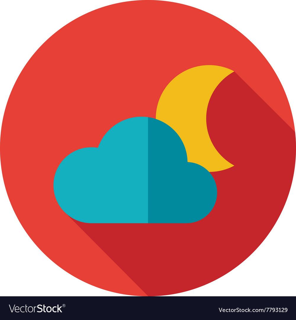 Cloud Moon flat icon Meteorology Weather vector image