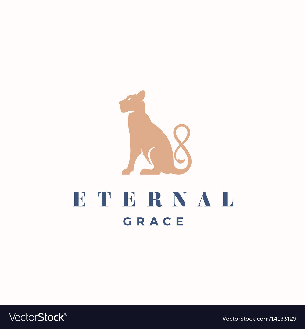 Eternal grace abstract sign emblem or logo