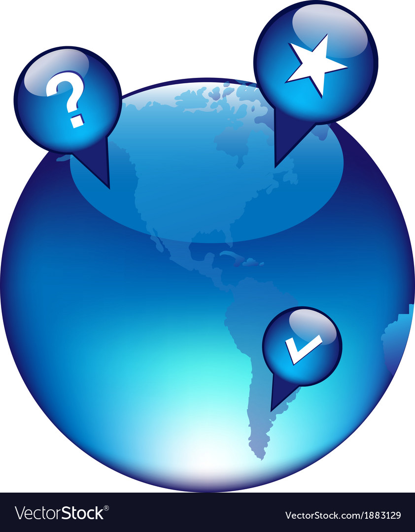 Globe And GPS Navigation Elements
