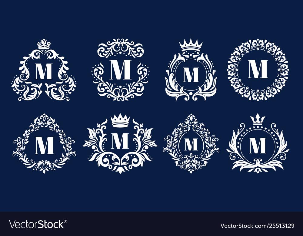 Luxury monogram frame ornamental monograms