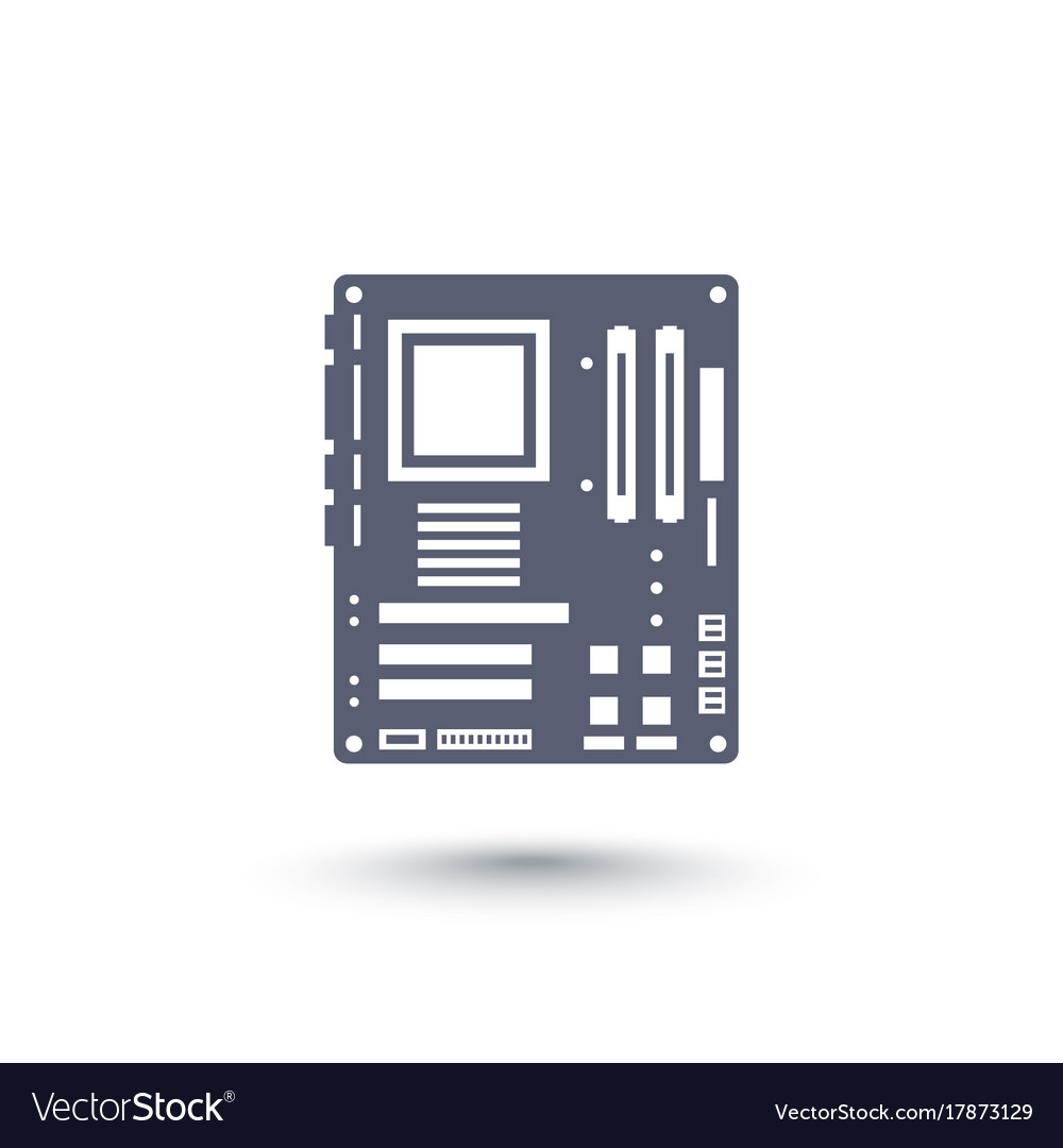 Motherboard icon over white vector image