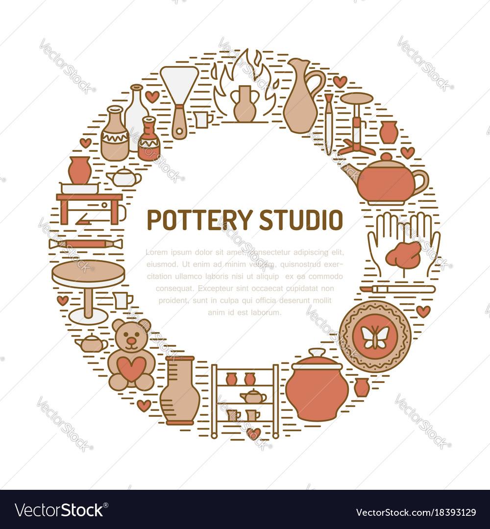 Pottery workshop ceramics classes banner