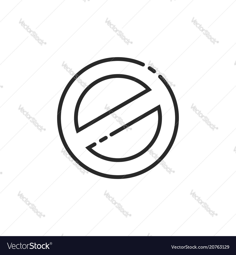 Prohibition sign icon line outline