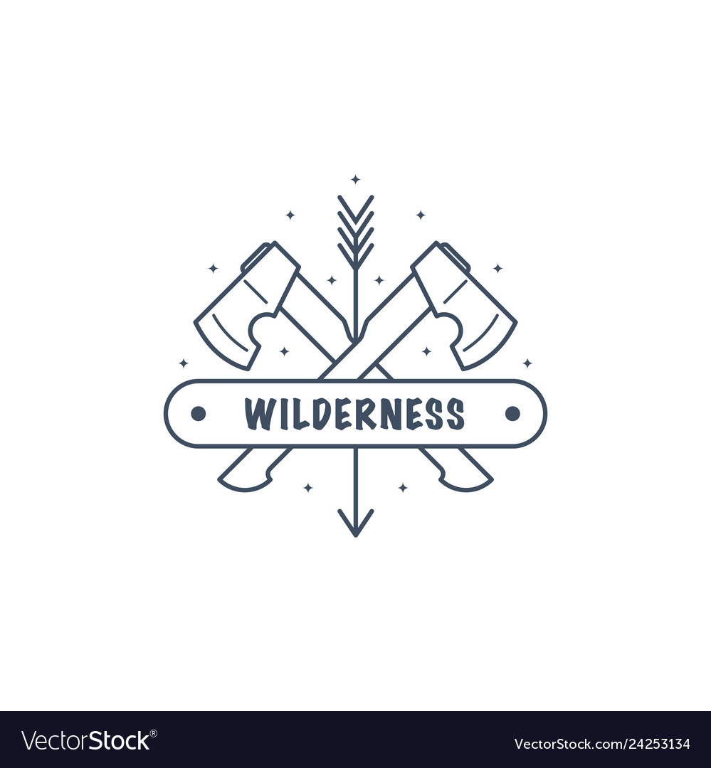 Bushcraft camp logo design